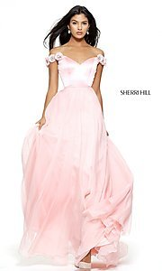 Sherri Hill Off-the-Shoulder Prom Dress