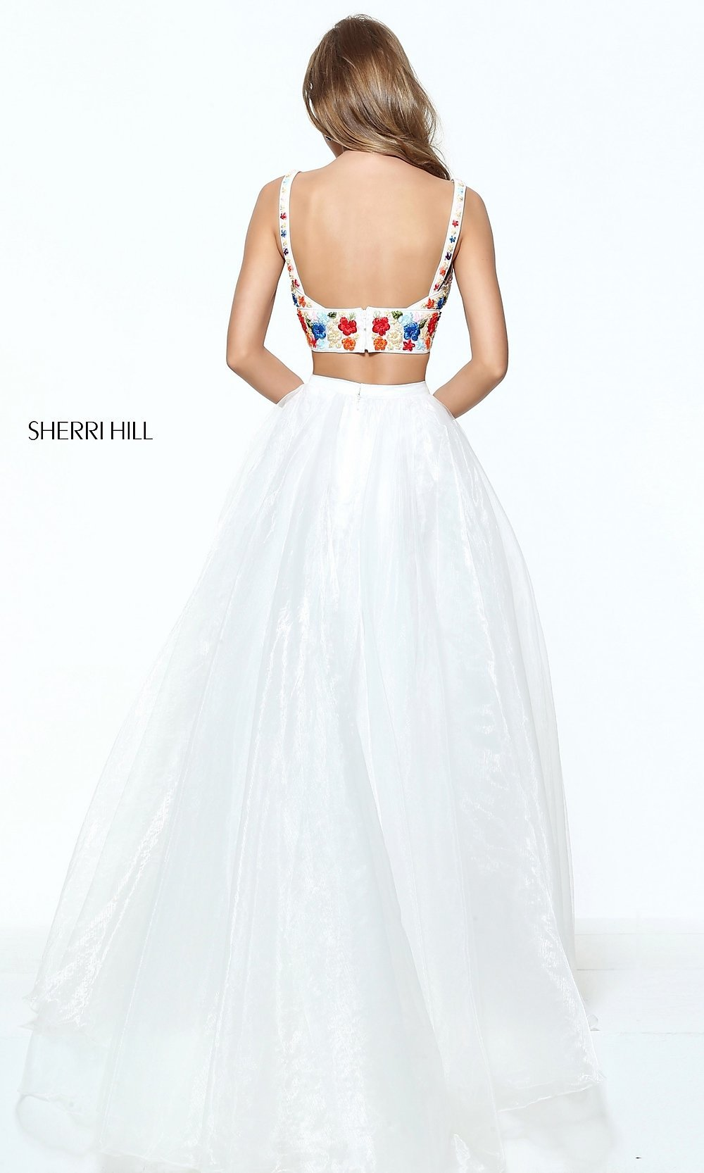 97a2adc909 V-Neck Long Two-Piece Sherri Hill Prom Dress