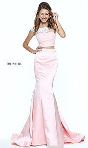 Two-Piece Long Sherri Hill Prom Dress
