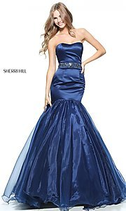 Strapless Sherri Hill Mermaid Prom Dress