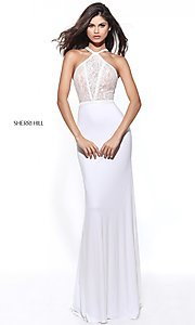 Sherri Hill Prom Dress with Lace Bodice