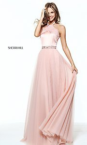 Sherri Hill Long Halter Prom Dress