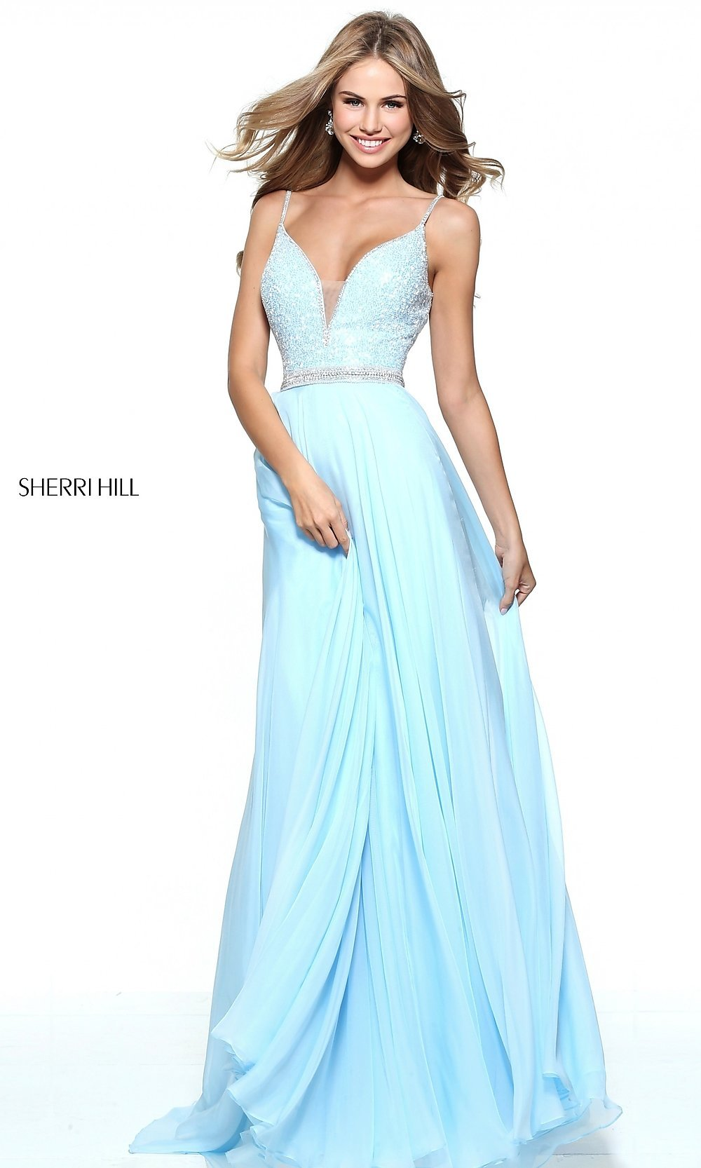 Icy Blue Formal Dress Tight