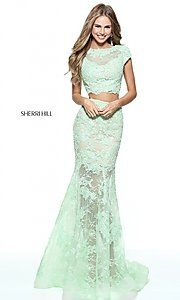 Lace Two-Piece Sherri Hill Prom Dress