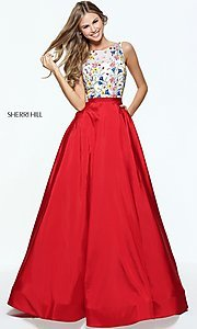Open-Back Long Prom Dress by Sherri Hill