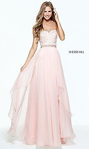 Strapless Long Prom Dress by Sherri Hill