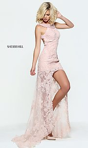 High-Low Embroidered Prom Dress