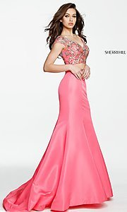 V-Neck Prom Dress with Beaded Top