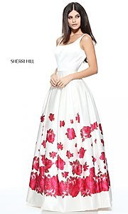 Long Floral Print Prom Dress by Sherri Hill