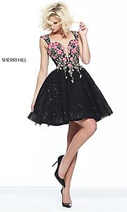 Short Fit and Flare Sweetheart Prom Dress