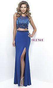 Long Two-Piece Prom Dress by Blush
