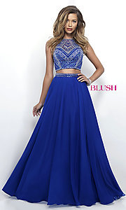 Two-Piece Prom Dress by Blush with Beaded Top
