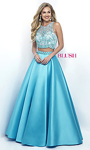 Two Piece A-Line Illusion Sweetheart Prom Dress