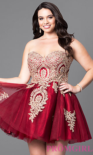 Plus Size Strapless Prom Dresses