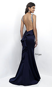 Open Back Long Intrigue by Blush Prom Dress