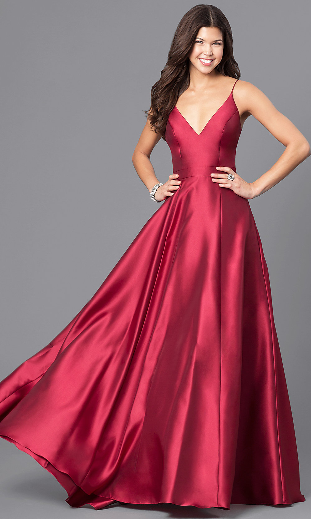 Long Wine Red Jvn By Jovani Prom Dress Promgirl