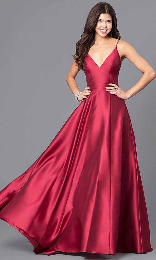 Image of long wine red JVN by Jovani prom dress. Style: JO-JVN-JVN51556 Front Image