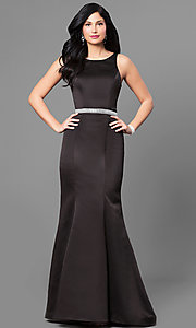 Scoop Neck Open Back Prom Dress