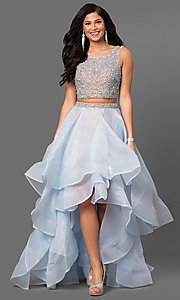 Two-Piece Terani High-Low Prom Dress