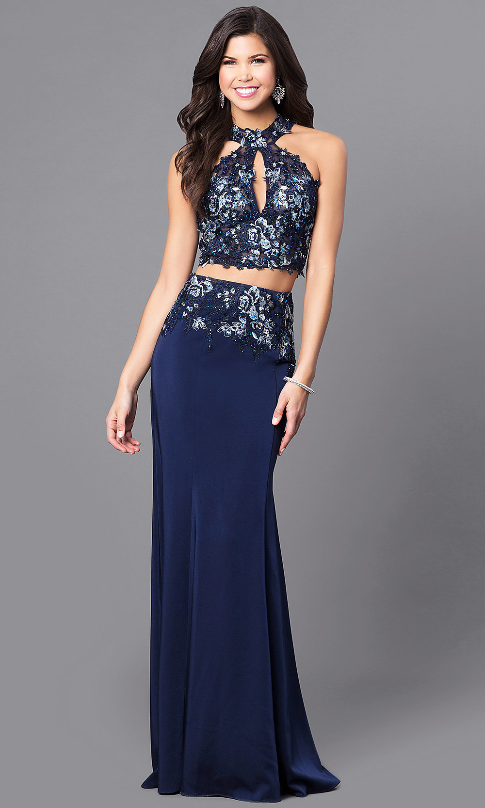 Prom dresses short in front long in back blue