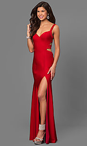 Cut-Out Back Long La Femme Prom Dress