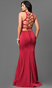 Two Piece Open Back Prom Dress by La Femme