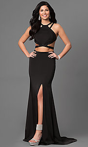 Two-Piece Jersey Open Back Dress