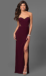 Long Prom Dress with Multi-Strap Back