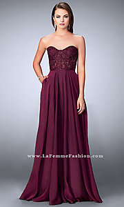 Chiffon Prom Dress with a Sheer Lace Bodice