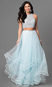Two-Piece Long Prom Dress by La Femme