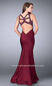 Back Cut-Out Long Jersey Prom Dress