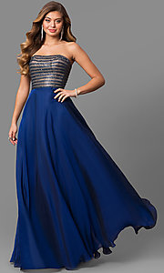Long Strapless Prom Dress by La Femme