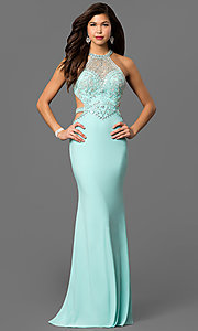 Cut Out Back Prom Dress with Beaded Bodice