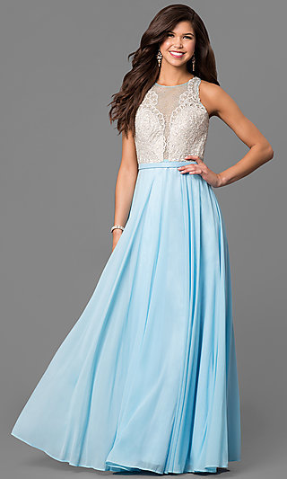 Splash by Landa Prom Dress with a Sheer Back