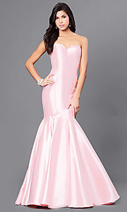 Strapless Long Mermaid Prom Dress