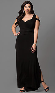 Cold Shoulder Sweetheart Plus Size Long Prom Dress