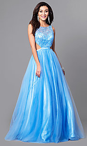 A-Line Prom Dress with Side Cut Outs