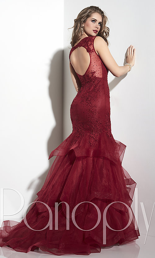 Red lace mermaid dresses