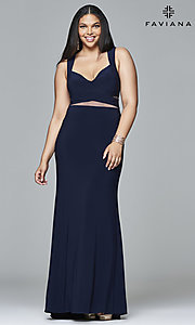 Long Plus-Size Prom Dress by Faviana