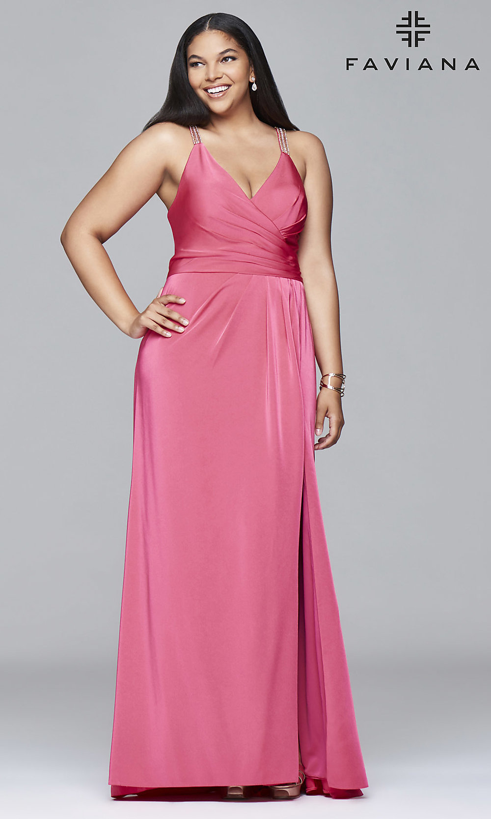 Pink plus size formal dresses - Fashion dresses