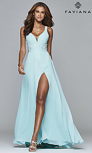 V-Neck Prom Dress with Lace Back