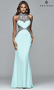 Illusion Sweetheart Prom Dress with Sheer Side Cut Outs