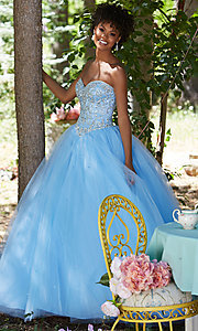 Sweetheart Corset Back Long A-Line Prom Dress