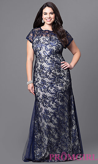 Attractive Navy And Nude Dress Pictures