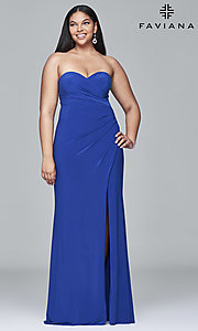 Strapless Sweetheart Plus-Size Dress