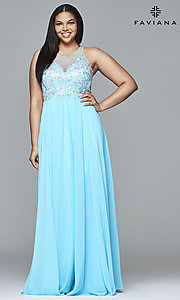 Faviana Long Plus-Size Prom Dress