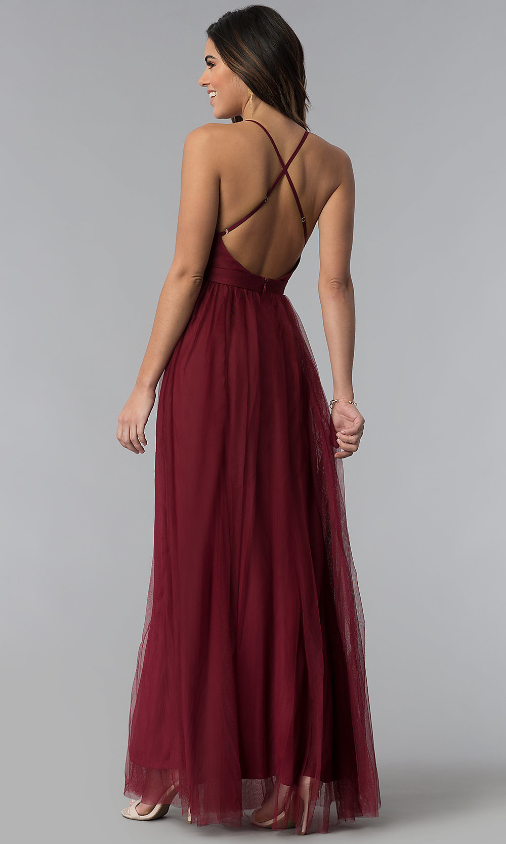 Sexy Prom Dress With Deep V-Neckline - PromGirl