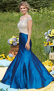 Off-the-Shoulder Long Prom Dress