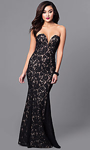 Long Prom Dress with Strapless Sweetheart Neckline