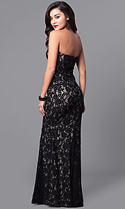 Image of long prom dress with strapless sweetheart neckline. Style: SY-ID4167VP Back Image